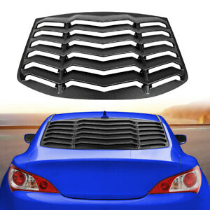For Hyundai Genesis Coupe 2010 2016 Window Louvers Scoops Windshield Matte Black