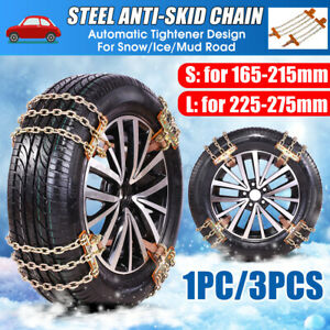 Anti Skid Car Truck Suv Emergency Snow Ice Mud Wheel Tire Tyre Steel Chains