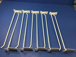 10 piece 13 White Slat Wall 5mm Hooks Used