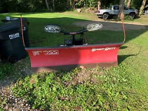Snow Plow Boss 7ft Sport Poly Blade Good For Half Ton Truck Jeep Suv