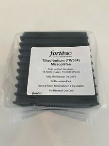 Fortebio 384 Well Tilted Bottom Plate Tw384 Microplates 18 5076 18 5080 18 0019