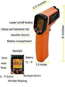Laser Infrared Temperature Gun Thermometer Temp Ir Meter Digital Non contact Rc