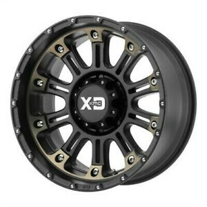 4 New 22x12 Xd Hoss 2 Satin Black Machine W Dark Tint Wheel rim 8x180 Et 44