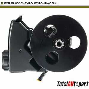 Power Steering Pump With Reservoir Pulley For Buick Chevrolet Pontiac 3 1l Eng