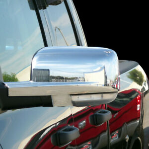 09 12 Dodge Ram 1500 2500 3500 Mirror Cover With Turn Signal Hole Chrome Abs