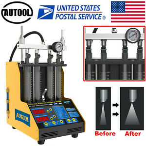 Fuel Injector Tester Cleaner Fuel System Cleaning Machine For Petrol Car Motor