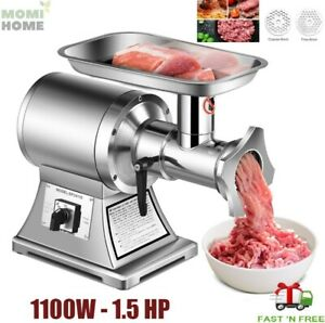 Heavy Duty Electric Meat Grinder Pusher Stainless Steel Commercial Industrial