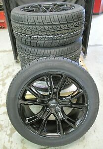 20 New Jeep Grand Cherokee Srt8 Style 20x9 Gloss Black Rims 9113 Tires Set 4 S
