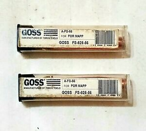 Goss Airco Style Fs 825 56 Mapp Gas Cutting Torch Tips Lot Of 2