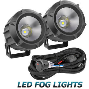 4 50w Led Round Driving Spot Lights Bumper Work Bar Pods Off Road 6500k wiring