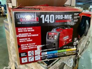 Used Lincoln Electric 140 Pro Mig Welder Flux Cored Wire Feed K2480 1