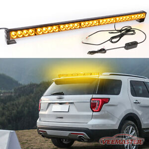 54led Emergency Traffic Advisor Double Side Warning Strobe Light Bar Blue white