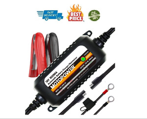Automatic Battery Charger Motorcycle Trickle Float Tender Maintainer 12v 800ma