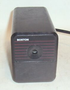 Boston Electric Pencil Sharpener Black Model 18 Vintage Hunt Mfg Co Usa Tested