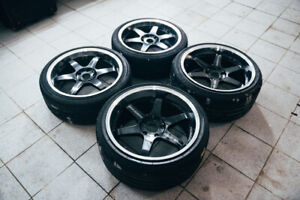 Rare Rays Volk Racing Te37 Tokyo Time Attack Limited 19x10 Et22 19x8 5 Et22 Fk8