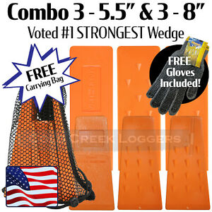 3 5 3 8 Usa Hard Logging Felling Bucking Tree Forestry Falling Spiked Wedges B