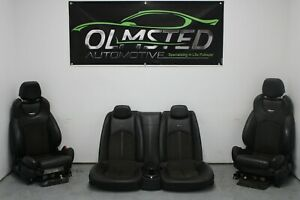 09 15 Cadillac Cts V Recaro Ebony Leather Suede Coupe Seats Oem Gm Front Rear