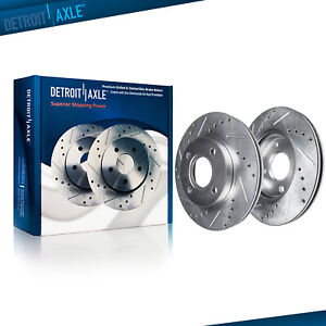 Front Drilled Slotted Disc Brake Rotors For 2008 2009 2010 2011 Ford Focus