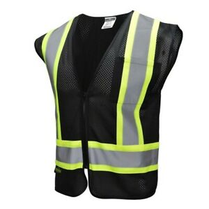 Black Safety Vest Radians Two Tone High Visibility Reflective