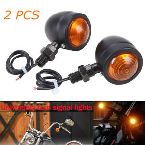 Motorcycle Bullet Turn Signals Tail Lights For Harley Cafe Racers Bobber Chopper