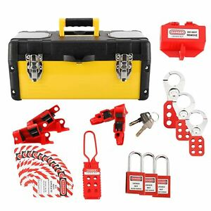 New Lockout Tagout Kit With Locks Breaker Lock Outs Hasps And Tags Us Stock