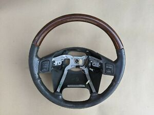 1999 2004 Jeep Grand Cherokee Overland Wj Wood Grain Steering Wheel Leather