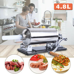 4 8l Manual Sausage Stuffer Maker Meat Filler Machine For Home And Commercial