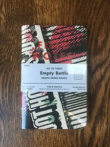 Field Notes empty Bottle Sold Out Limited Edition Of 2400 Sealed 3 Pack