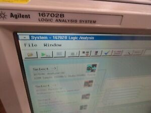 Agilent 16702b Logic Analysis System Loaded Check Config