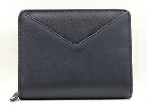 New Franklin Covey Binder Maia Navy Pebbled Leather Organizer Size Small Nwt