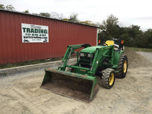2003 John Deere 4410 4x4 Hydro Compact Tractor W Loader Only 1700 Hours