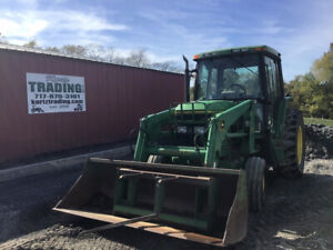 2000 John Deere 6200 2wd Farm Tractor W Cab Loader One Owner Only 3500hrs