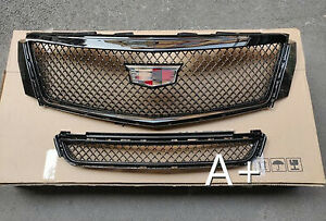 4pcs For Cadillac Xts 2013 2017 Radiator Front Bumper Upper Grill Lower Grilles
