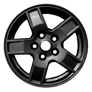 09053 Refinished Grand Cherokee 2005 2007 17in Wheel Black Full Painted