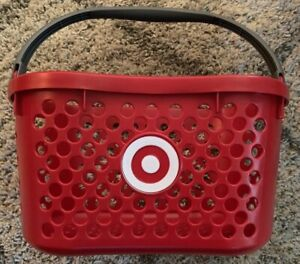 Vintage Target Red Logo Shopping Basket With Handle from Abandoned Store