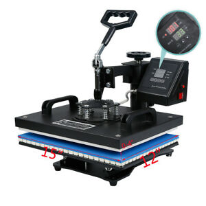 8 In 1 Heat Press Machine Sublimation Printing Digital Transfer Mugs Hat T shirt