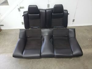 2013 2014 Mustang Gt California Special Coupe Rear Seats Black Suede Leather