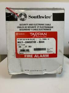 Tappan Fire Alarm Multi Conductor Cable 16 2c Sol Bc N s Fflp red 500 Ft Spool