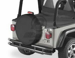 Bestop 61028 15 Spare Tire Cover Black Denim