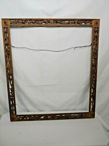 Antique Picture Frame Hand Carved Hand Gilt From Early 19th Century