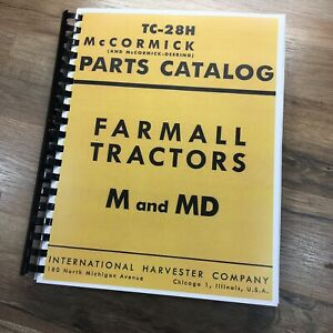 Farmall International M Md Tractor Parts Manual Catalog Book Schematic Assembly