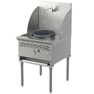 Pantin Pcwr a16 Commercial 1 Burner 16 Stainless Steel Chinese Wok Range 1