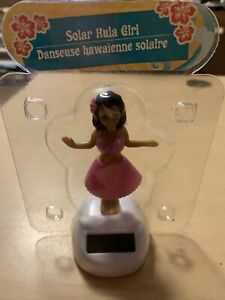 Solar Powered Toy Hula Girl Sway Pink Car Decor New