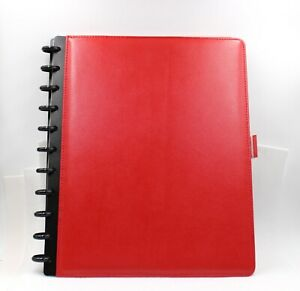 Levenger Circa Red Smooth Leather Foldover Notebook Letter Size New In Box