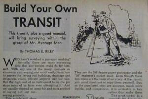 Build A Simple Surveyor s Transit 1946 How to Build Plans