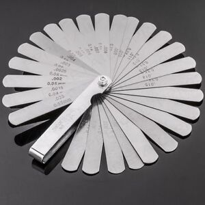New Tappet Valve Feeler Gauge 26 Leaves Blades Metric Inch Thickness 0 04 0 63mm