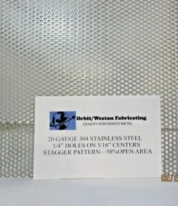 1 4 Holes 20 Gauge 304 Stainless Steel Perforated Sheet 14 X 14