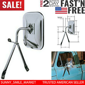 Truck Replacement Side Mirror Full Size Universal Low Mount For Van Pickup Suv