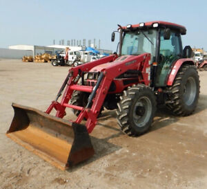 2011 Mahindra M Power 85 4x4 85hp Utility Tractor W Cab Loader Only 600 Hours