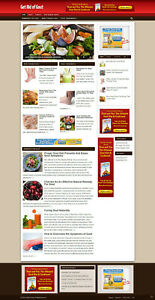 Gout Advice Affiliate Website With Free Domain Hosting